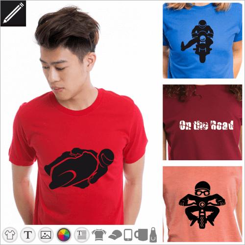 Selbst gestalte dein Motorrad T-Shirt