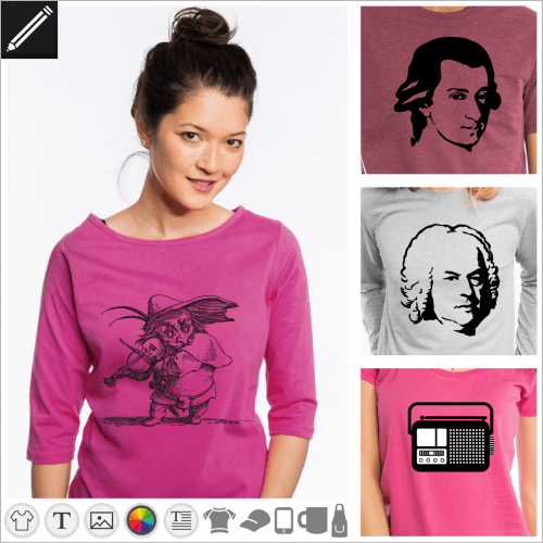 Gestalte dein Musik T-Shirt online