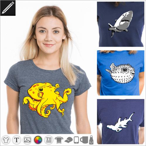 Gestalte dein Ozean T-Shirt online