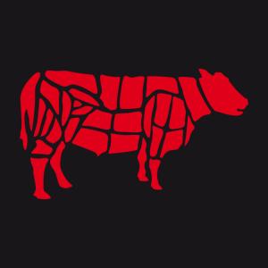 Rind Fleischer und bbq Design für Schürze Druck