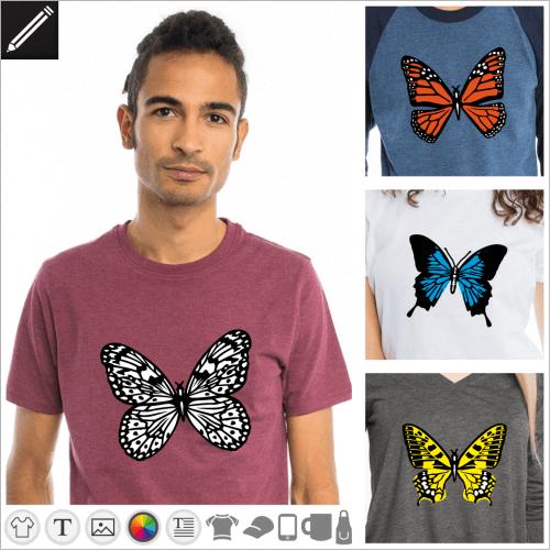 Gestalte dein Schmetterling T-Shirt