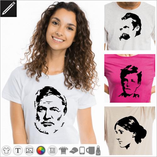 Selbst gestalte dein Schriftsteller T-Shirt online