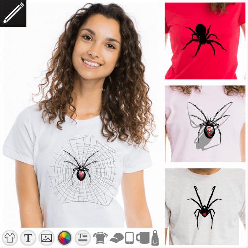 Selbst gestalte dein Spinnen T-Shirt online