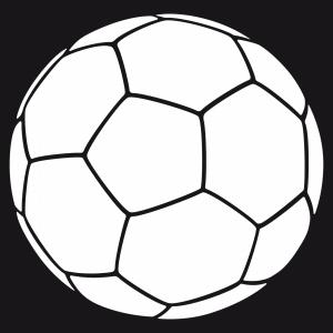 Weißer Fußball, anpassbar für den Online-Druck.