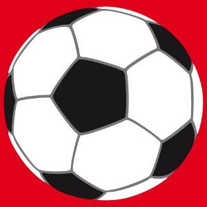 Fußball zum Personalisieren und Bedrucken von T-Shirt.