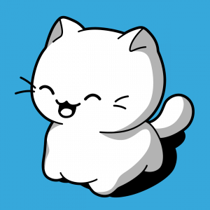 Katzen-T-Shirt. Lustige Katze mit einem lustigen Ausdruck, die man online drucken kann.  Design Katze kawaii.