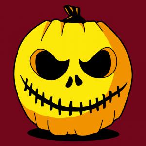 Lustiges Halloween-T-Shirt, geschnitzter Kürbis, um ihn online zu personalisieren. Erstelle ein originelles T-Shirt.