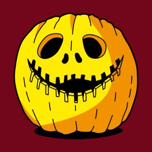 Lustiges Kürbis-T-Shirt zum online Drucken zu Halloween. Erstelle ein individuelles Halloween-T-Shirt.
