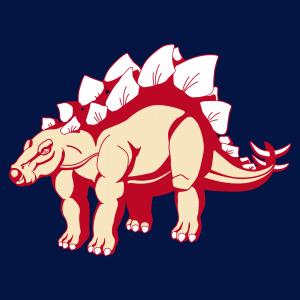 Stegosaurus T-Shirt, stilisierter Dinosaurier anpassbar. Gestalte ein originelles Dinosaurier-T-Shirt.