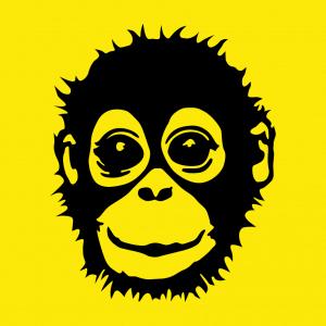 Anpassbares Affe Designs für T-Shirt Druck