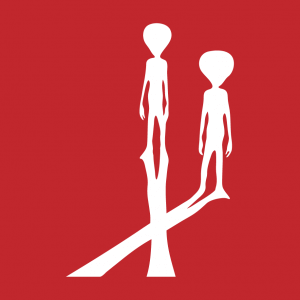 Alien und Außerirdischer Design für T-Shirt Druck