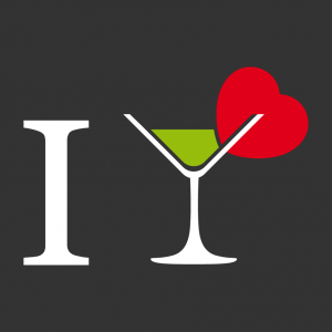 Alkohol und Cocktail Design für T-Shirt Druck