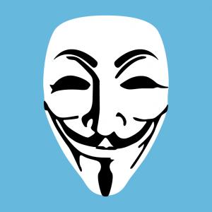 Anonymous und Maske Design für T-Shirt Druck