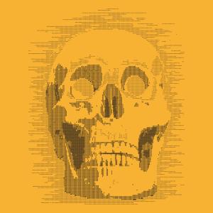 Totenkopf und Ascii Schädel Design für T-Shirt Druck