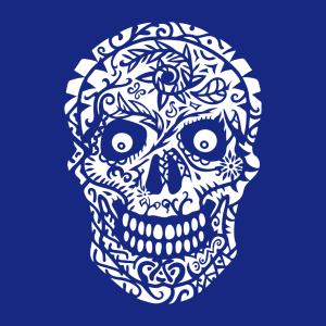 Totenkopf T-Shirt zu gestalten. Schädel Designs für T-Shirt Druck.