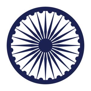 Indien T-Shirt zu gestalten. Charkha Designs für T-Shirt Druck.