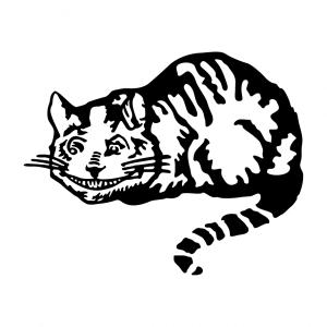Literatur T-Shirt zu gestalten. Cheshire Katze Designs für T-Shirt Druck.