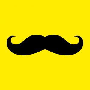 moustache T-Shirt zu gestalten. Lustiger Schnurrbart Designs für T-Shirt Druck.