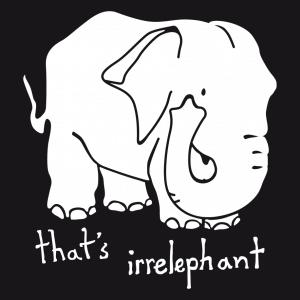 Elefant und Witz Design für T-Shirt Druck
