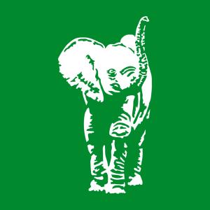 Elefant T-Shirt zu gestalten. Baby Elefant Designs für T-Shirt Druck.