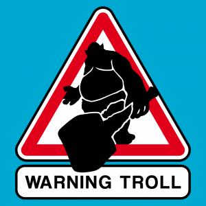 Troll Design für T-Shirt Druck