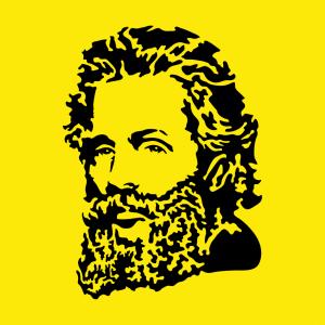 Herman Melville Design für T-Shirt Druck