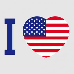 USA Design für T-Shirt Druck