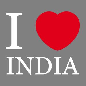 I love India T-Shirt zu gestalten. I Love Designs für T-Shirt Druck.