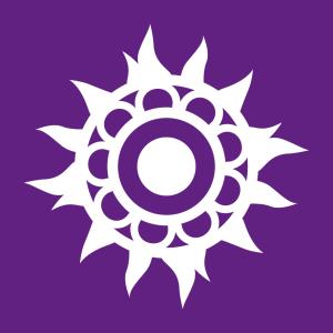 Rosette und Indische Blume Design