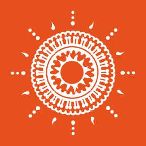 Indien T-Shirt zu gestalten. Indische Rosette Designs für T-Shirt Druck.