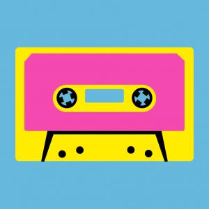 Audiokassette Design für T-Shirt Druck
