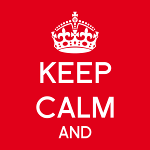 Anpassbares Keep calm Designs für T-Shirt Druck
