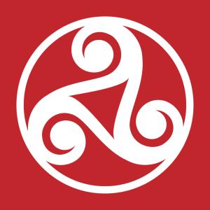 Keltisches Symbol Design für T-Shirt Druck