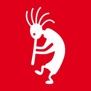 Symbol und Kokopelli Design