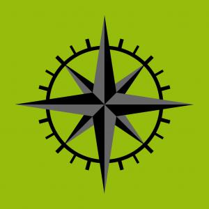 Kompass und Kompassrose Design