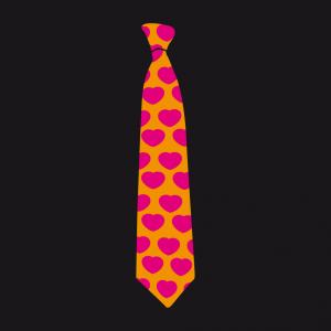 Krawatte und Herzen Design für T-Shirt Druck