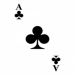 Kreuz-Ass und Kartenspiel Design für T-Shirt Druck
