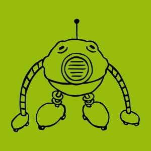 Roboter und Nerd Design für T-Shirt Druck