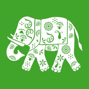 Indischer Elefant T-Shirt zu gestalten. Elefanten Designs für T-Shirt Druck.
