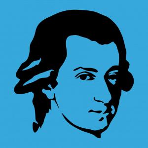 Muzik T-Shirt zu gestalten. Mozart Porträt Designs für T-Shirt Druck.