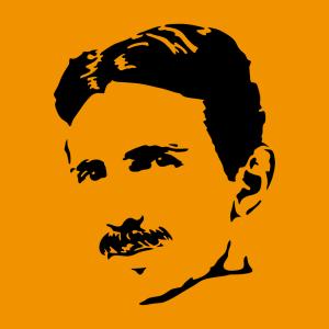 Nikola Tesla Design für T-Shirt Druck
