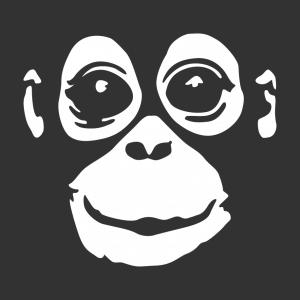 Affen Design für T-Shirt Druck