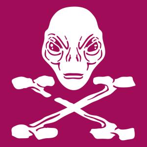 Außerirdischer und Alien Design für T-Shirt Druck
