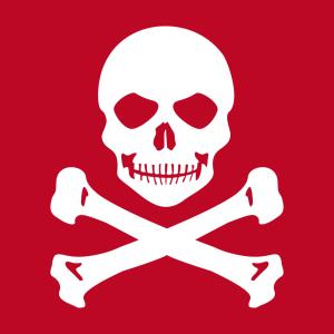 Pirat T-Shirt zu gestalten. Schädel Und Knochen Designs für T-Shirt Druck.