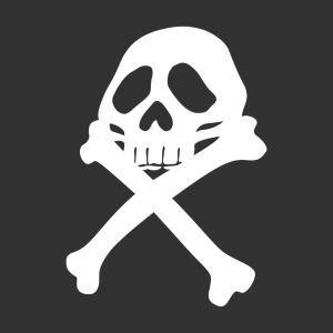Harlock T-Shirt zu gestalten. Piratenflagge Designs für T-Shirt Druck.