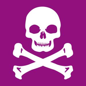 Schädel T-Shirt zu gestalten. Piratenflagge Designs für T-Shirt Druck.