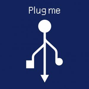 Anpassbares USB Designs für T-Shirt Druck