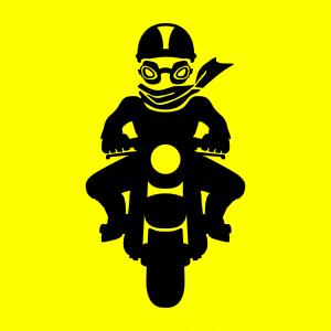 Biker und Motorradfahrer Design für T-Shirt Druck