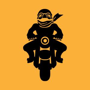 Motorradfahrer Design für T-Shirt Druck