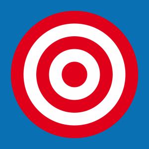 Ziel und Zielscheibe Design